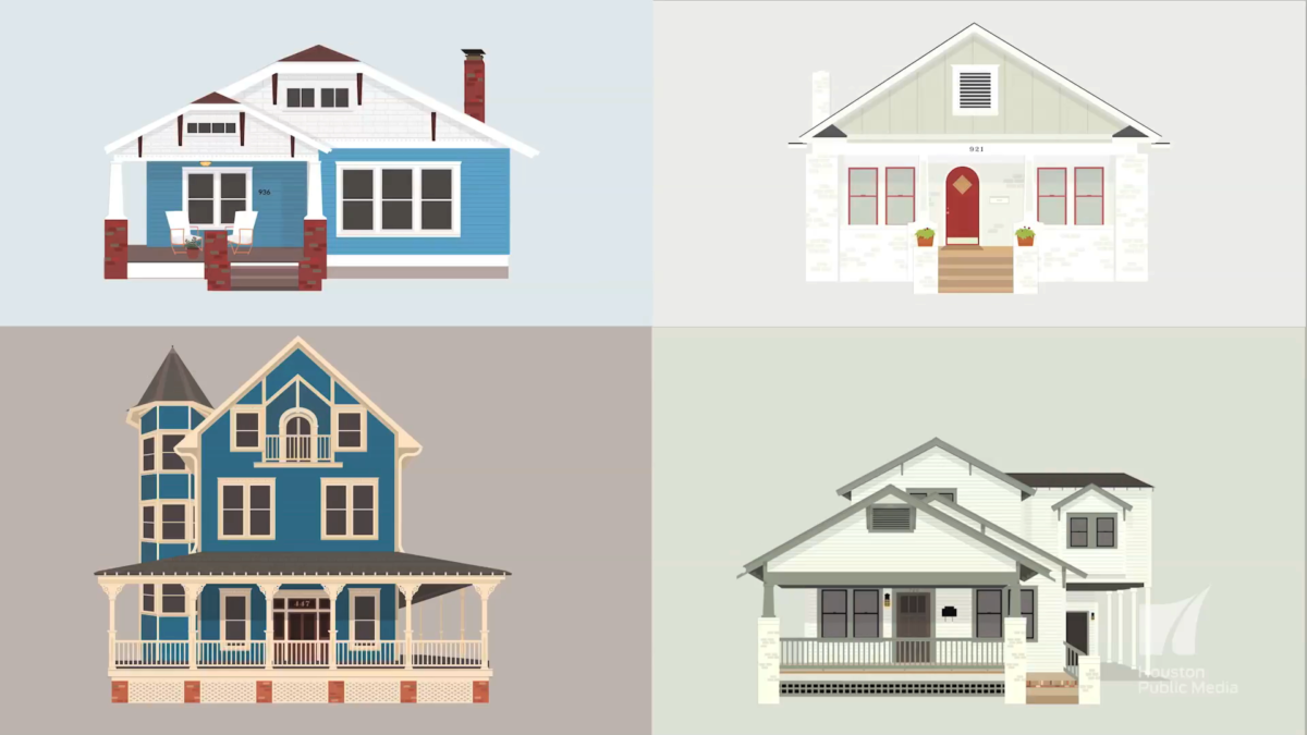Video: Homes In The Heights Get Illustrated – Houston Public Media