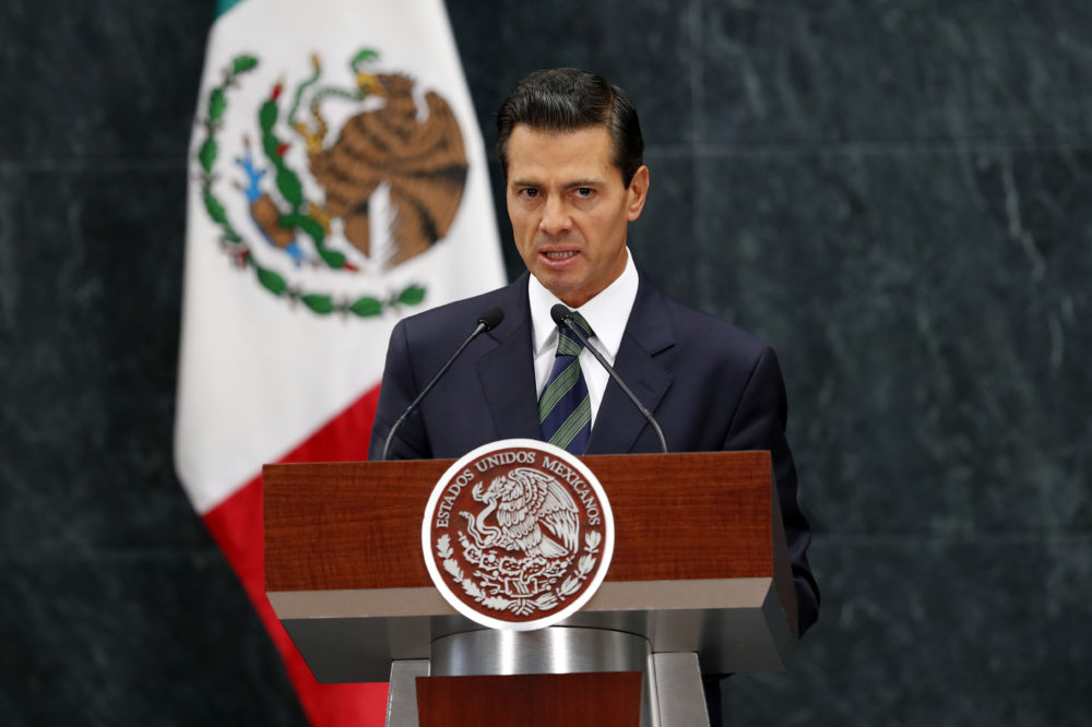 Mexican President Enrique Peña Nieto speaks during a news conference last August in Mexico City.