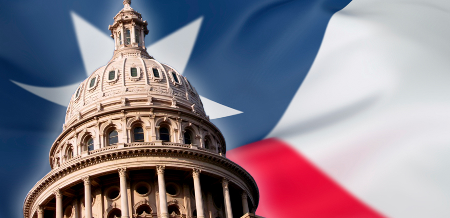 Texas Capitol State Flag Politics - Banner