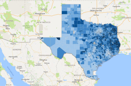 Texas Hunger map