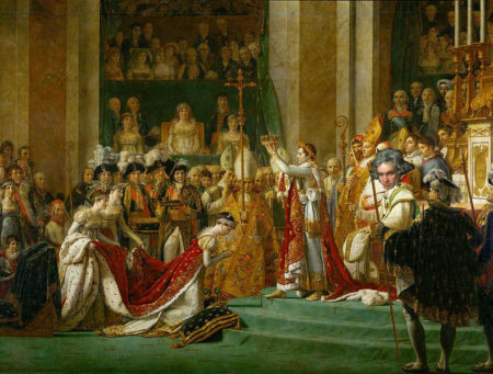 Beethoven looks upon the coronation with disapproval