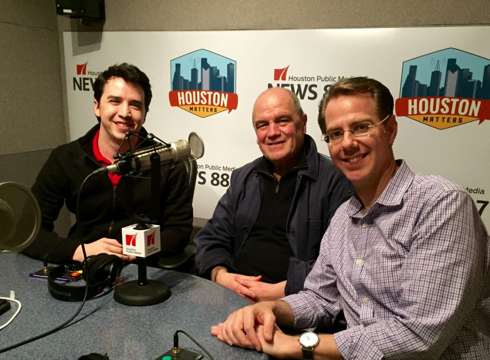 (L-R): Joshua Zinn with Hans Graf and Timothy McAllister