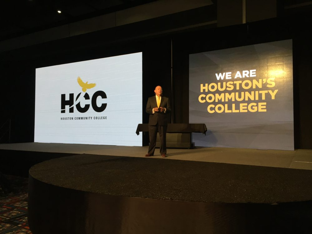 HCC Chancellor Cesar Maldonado addressed a crowd at the George R. Brown Convention Center on the state of the college.