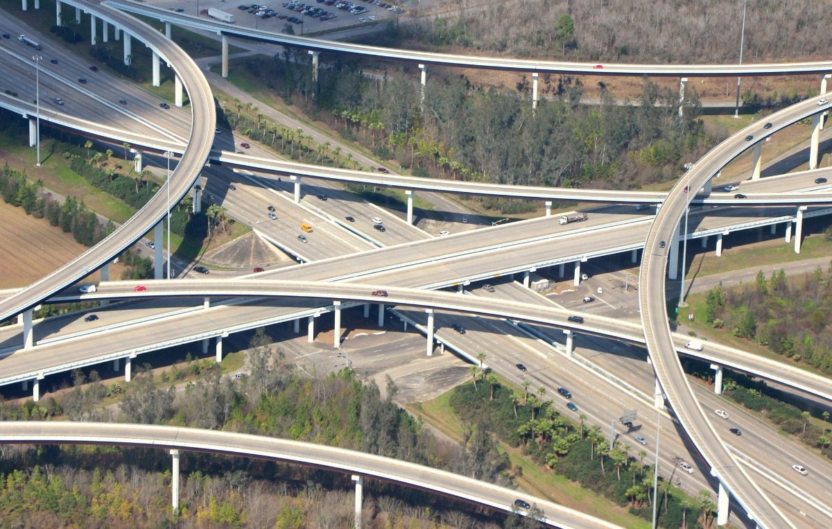 Highway Interchange Freeways Traffic Roads - Arial - FMartin