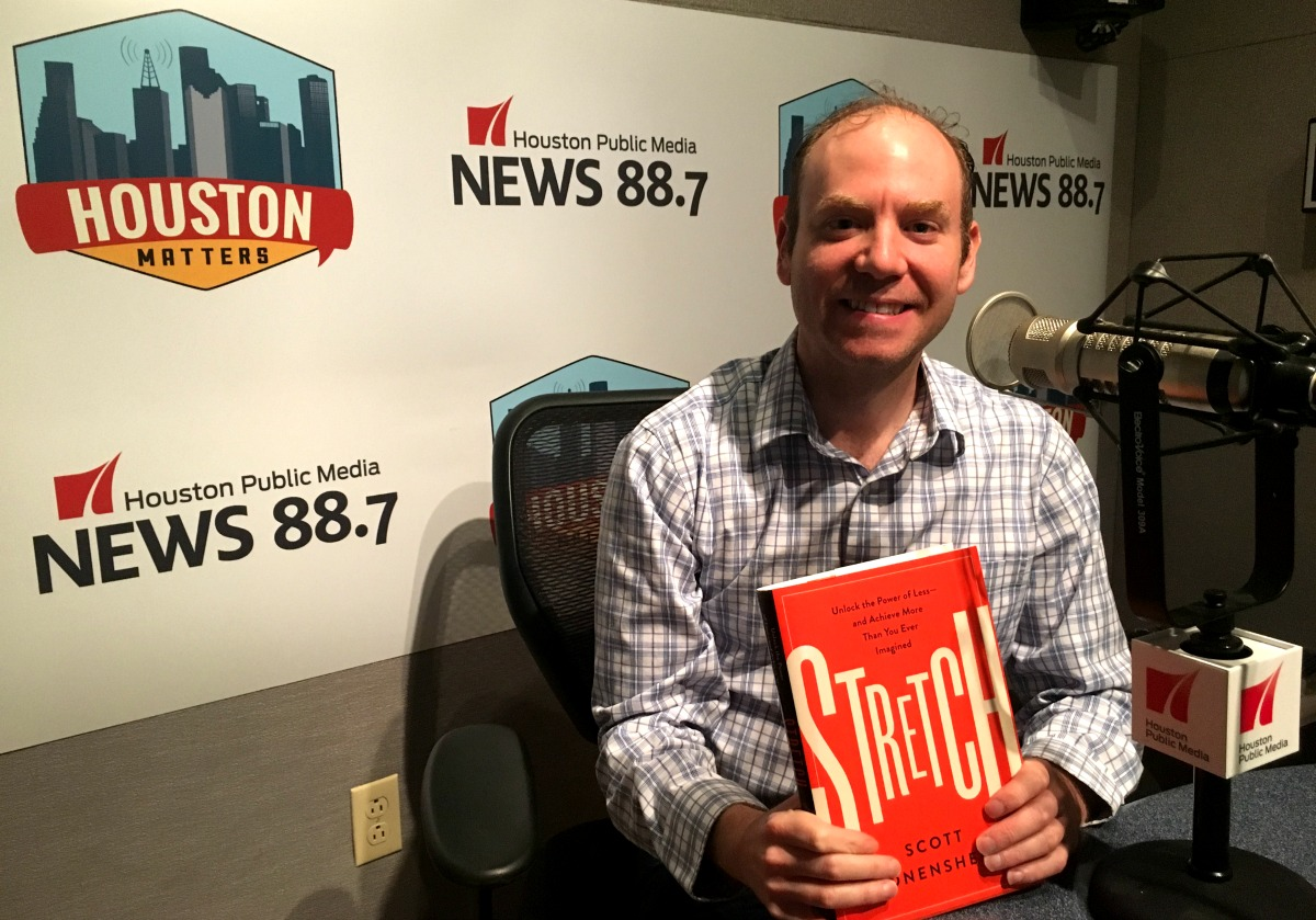 """Rice University management professor Scott Sonenshein is the author of """"Stretch: Unlock the Power of Less -- and Achieve More Than You Ever Imagined."""" (Photo: Michael Hagerty, Houston Public Media)"""