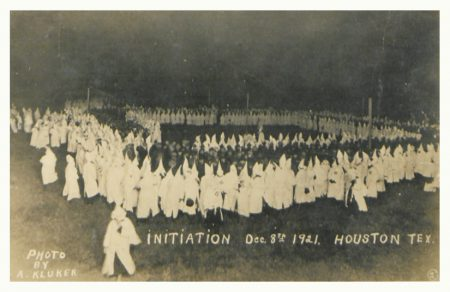 Klan Initiation Houston, 1921