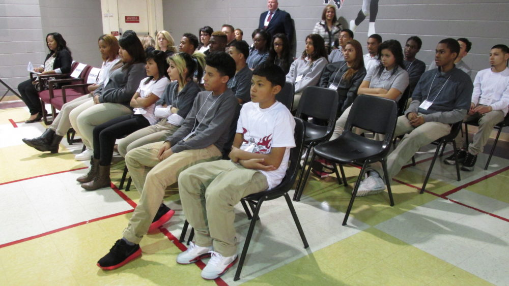 Camelot Education, to run an disciplinary alternative education program at Beechnut Academy. Students there gathered for an assembly in 2014.