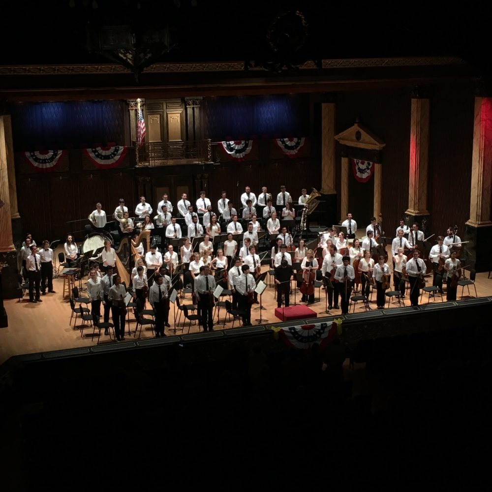 Round Top Music Festival musicians and conductor Perry So at the Festival Concert Hall