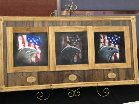 The Michael E. DeBakey VA Medical Center showcased several paintings made by women veterans in March, as part of the celebration of Women's History Month.