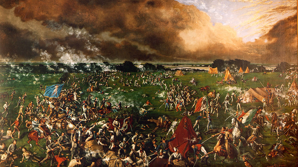 The Battle of San Jacinto-1895 painting by Henry Arthur McArdle (1836–1908) (Photo: Wikipedia)