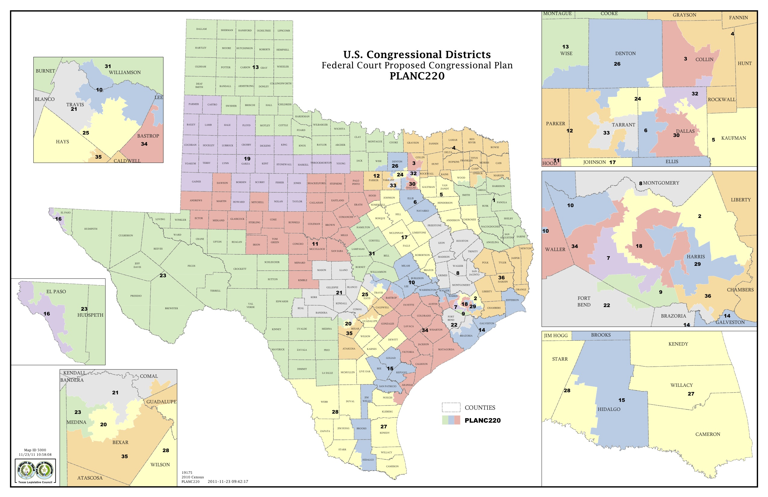 Texas State Representative District Map
