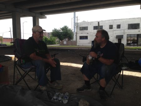 Billy Pierce and William Tucker live in a homeless encampment located just around the corner from Minute Maid Park. They say they don't have a problem with the ordinance and will respect the new rules.