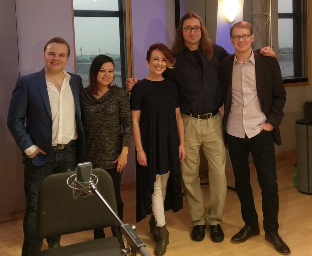The Apollo Chamber Players and composer Christopher Walczak in the Geary Performance Studio in January.