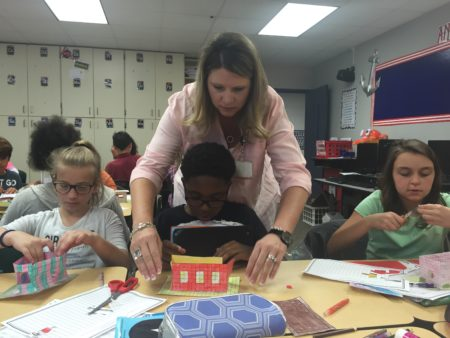 Stacey Ward teaches math and science to fifth graders at Timbers Elementary. She hopes state Rep. Dan Huberty's bill to update some parts of Texas' school finance system passes.