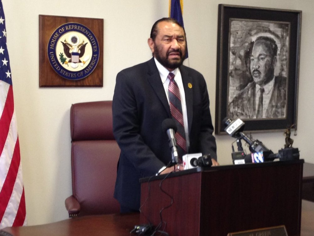 Democratic Congressman Al Green is calling for the impeachment of President Donald J. Trump because of the firing of FBI Director James Comey.
