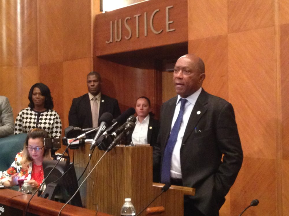 Houston Mayor Sylvester Turner describes the City's budget for Fiscal Year 2018 as conservative and underscores it fully funds the pension costs.