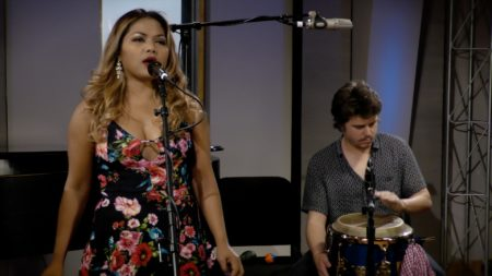 Dengue Fever performs in the Geary Studio