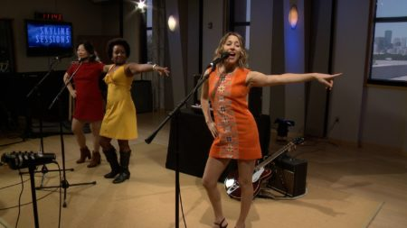 Charlie Faye & The Fayettes perform in the Geary Studio