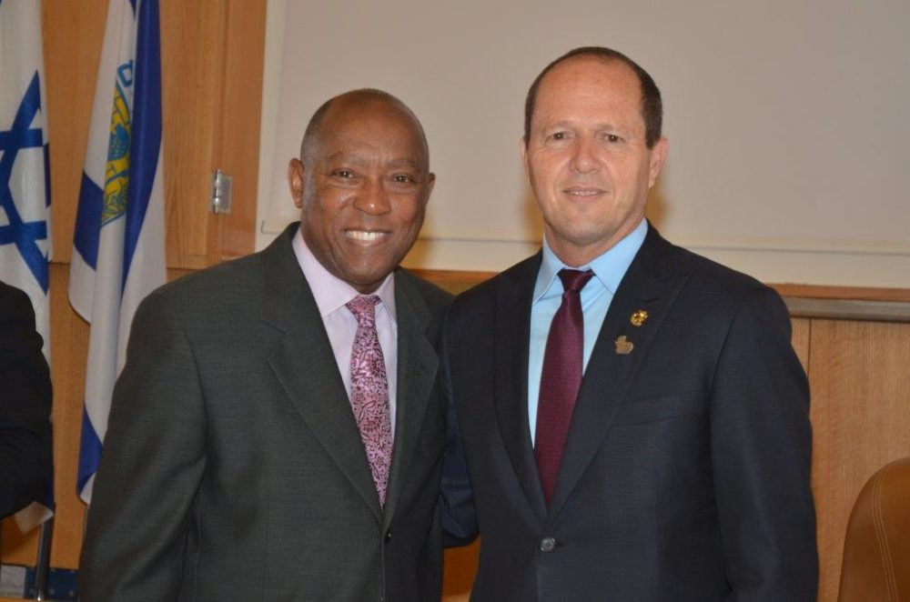 Houston Mayor Sylvester Turner met with his counterpart in Jerusalem Nir Barkat during one of the meetings the delegation is having in Israel.