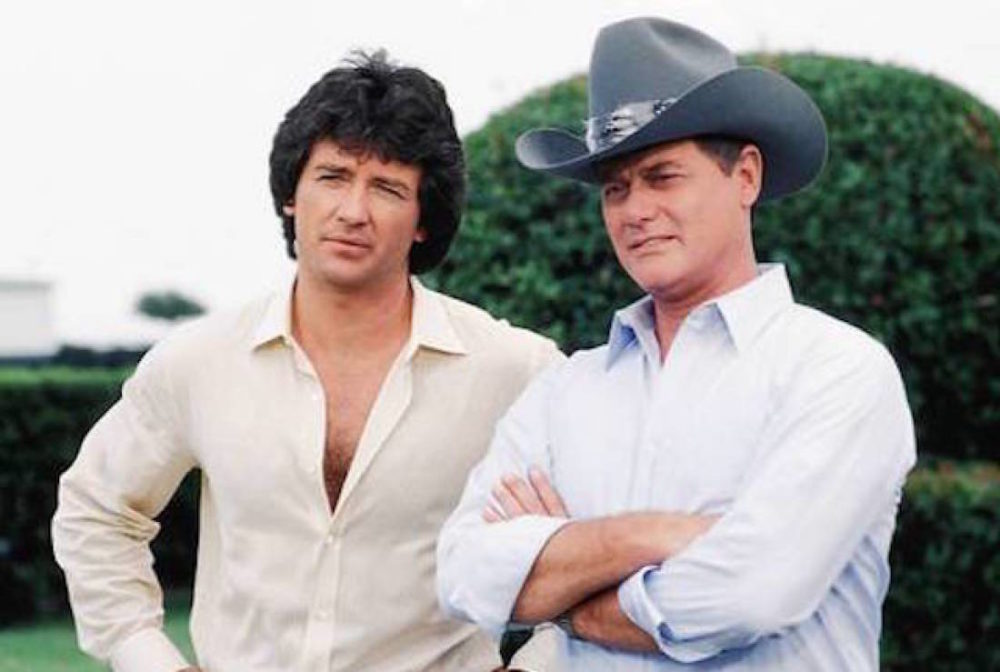 "Bobby and J.R. Ewing (still from ""Dallas"")"