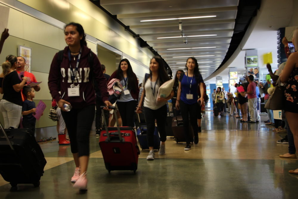 For most students in the EMERGE college advising program, this summer's college tour outside of Texas marks the first time they've been outside Texas or on an airplane.