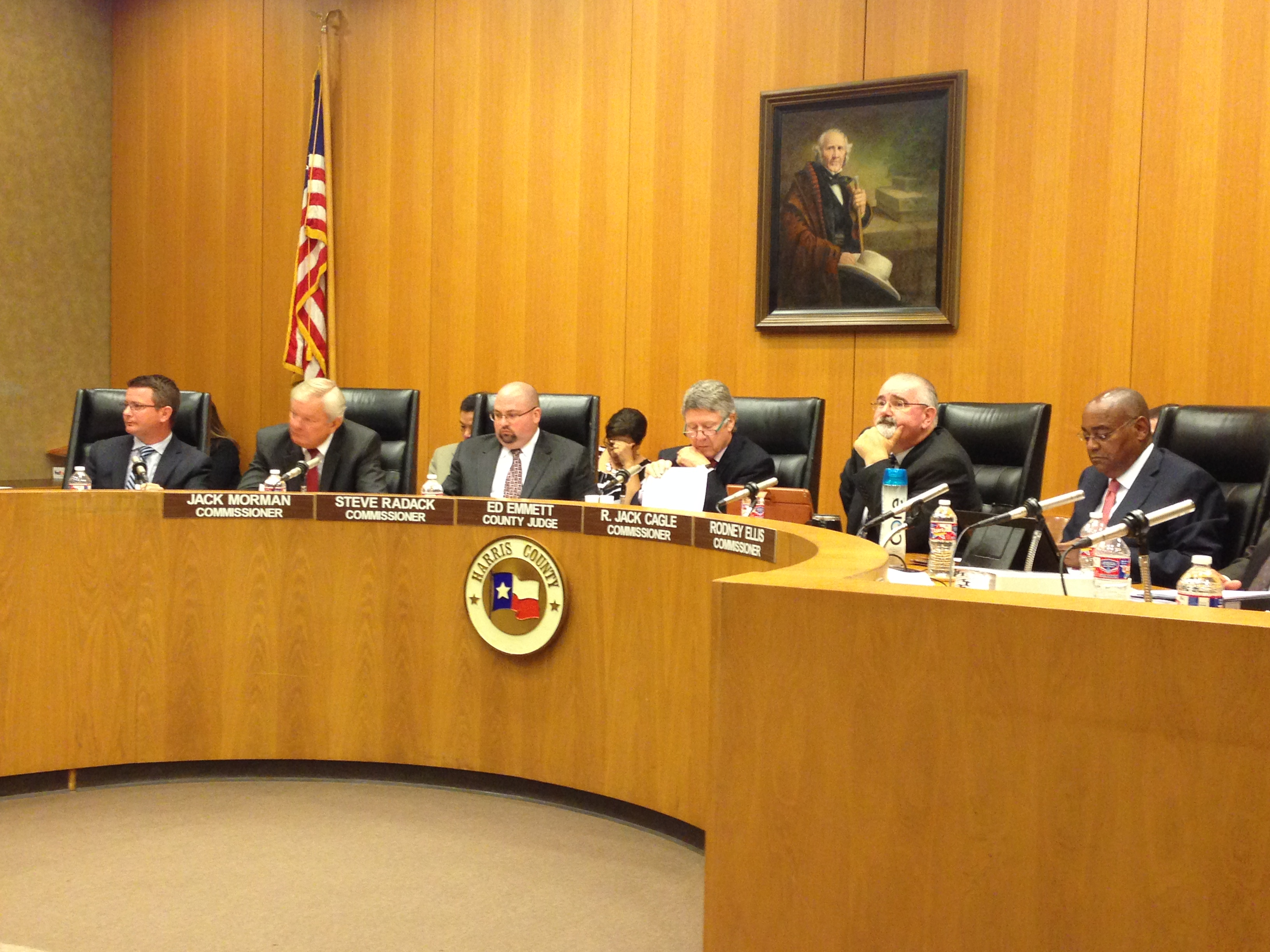 The Harris County Commissioners Court.