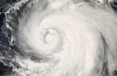 Hurricane Ike as seen in 2008 from NASA's Earth Observatory