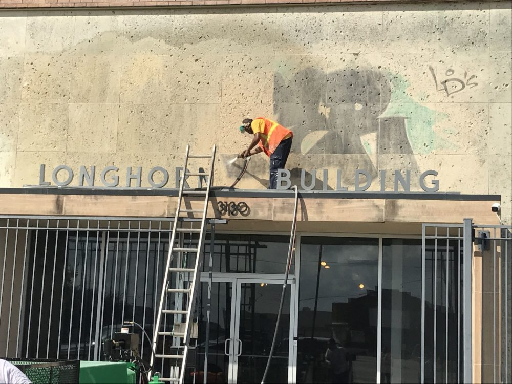 The Greater East End Management District's created its Graffiti Abatement Team in 2001. It eventually expanded its operations to other parts of Houston and, so far, it has cleaned up about 198,000 graffiti sites.
