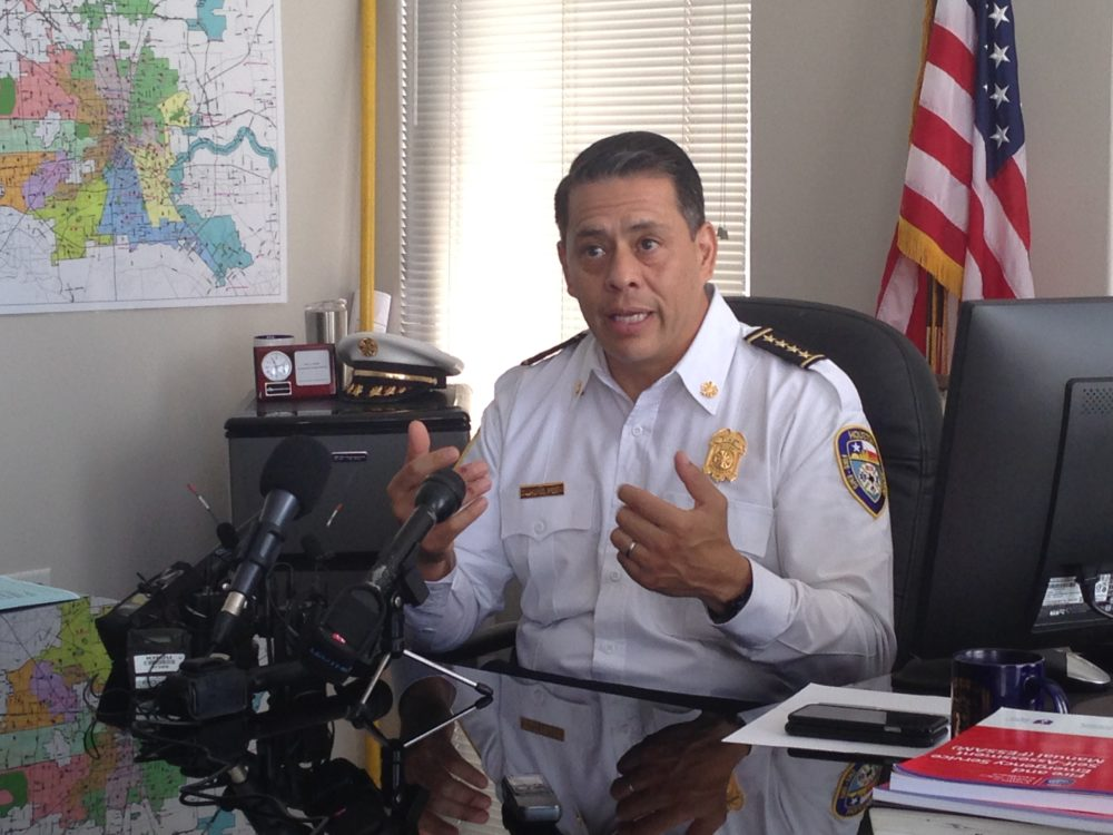 HFD Chief Samuel Peña emphasizes that improving fire safety inspections in Houston will entail using a new risk-based model and a modern records management system.