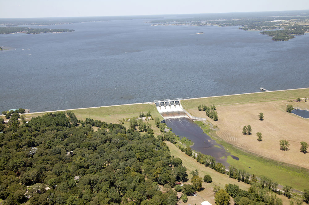 One of the goals of the project is to better predict flood levels downstream from the Lake Conroe dam.
