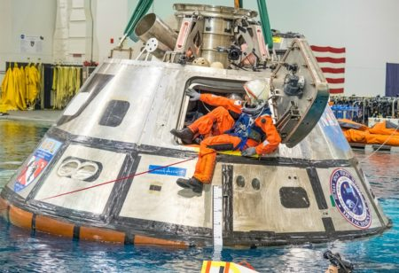 NASA Orion Splashdown Crew Egress