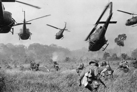 Vietnam War 1965 - Attack on a Viet Cong camp 18 miles north of Tay Ninh