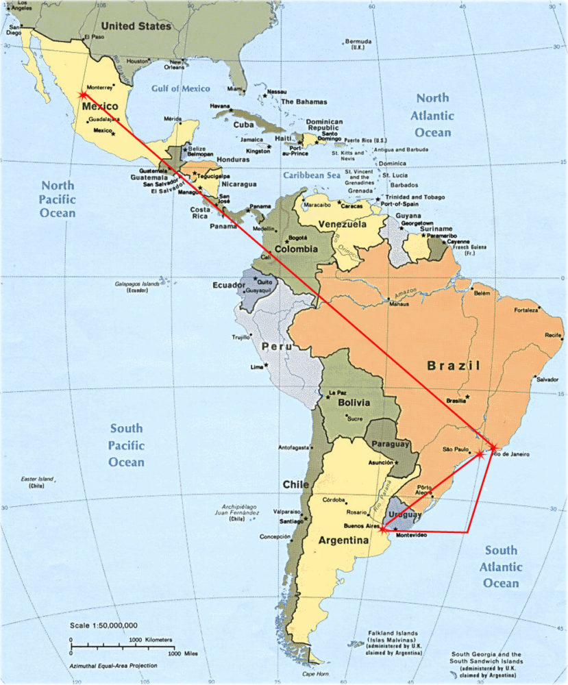Sojourn through Central and South America