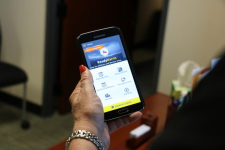 The Ready Harris app provides Harris County residents with information about how to prepare to survive during emergencies and natural disasters, such as hurricanes.