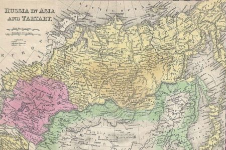 Map of Russia dating from 1853