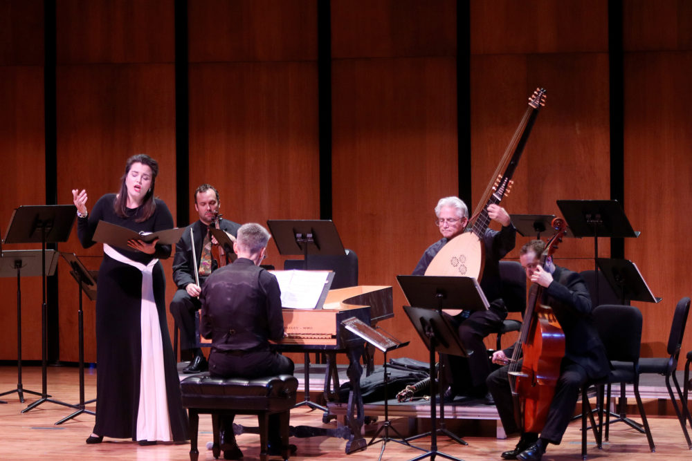 Musicians on stage at Ars Lyrica concert Don Quixote's Excellent Adventures