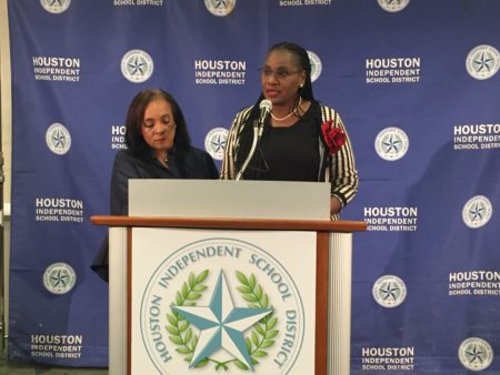 HISD Board President Wanda Adams and Trustee Rhonda Skillern-Jones said that they will not close schools despite the risk of a state takeover.