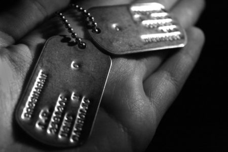 Dog tags from a Marine who was in the Vietnam War