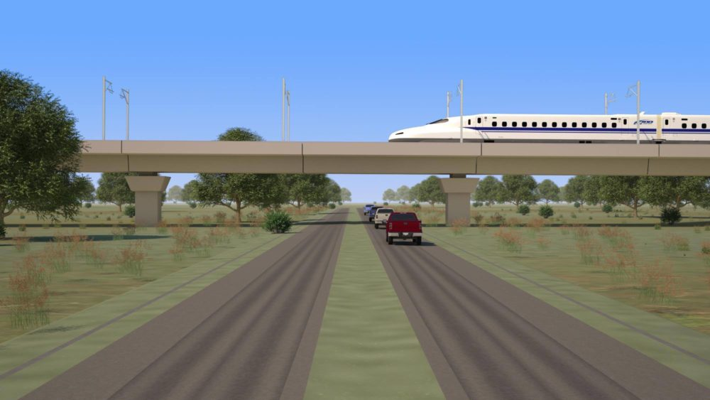 Part of the high-speed rail line connecting Houston and Dallas would be built along Hempstead Road and, Texas Central, the company in charge of the project estimates it could create 1,000 permanent jobs.
