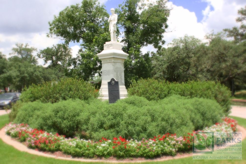 Statue of Dick Dowling in Hermann Park