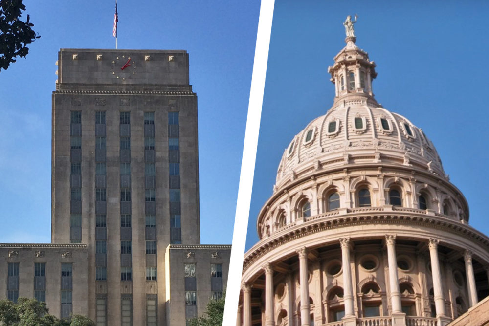 Houston City Hall and the Texas Capitol Building