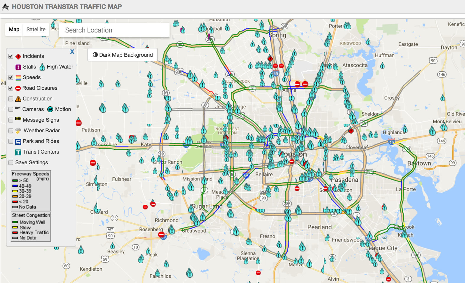Road Closures Due To High Water In Houston, Tuesday ... on