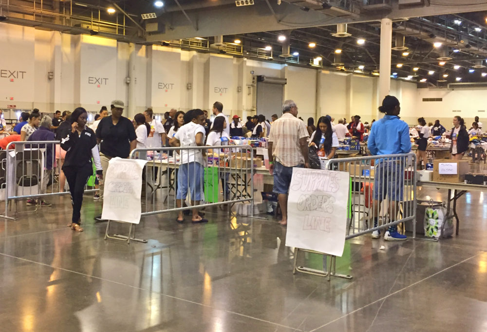 Lines For Supplies At NRG Center