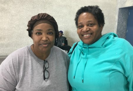 Harvey Evacuees Gloria Tyler and Arleen Flint