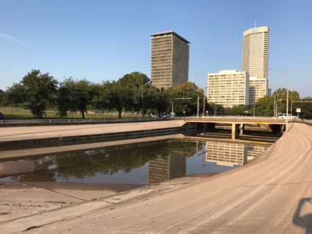 Images from Buffalo Bayou Park, between Allen Parkway and Memorial Parkway, near downtown Houston. (Don Geraci, Houston Public Media)
