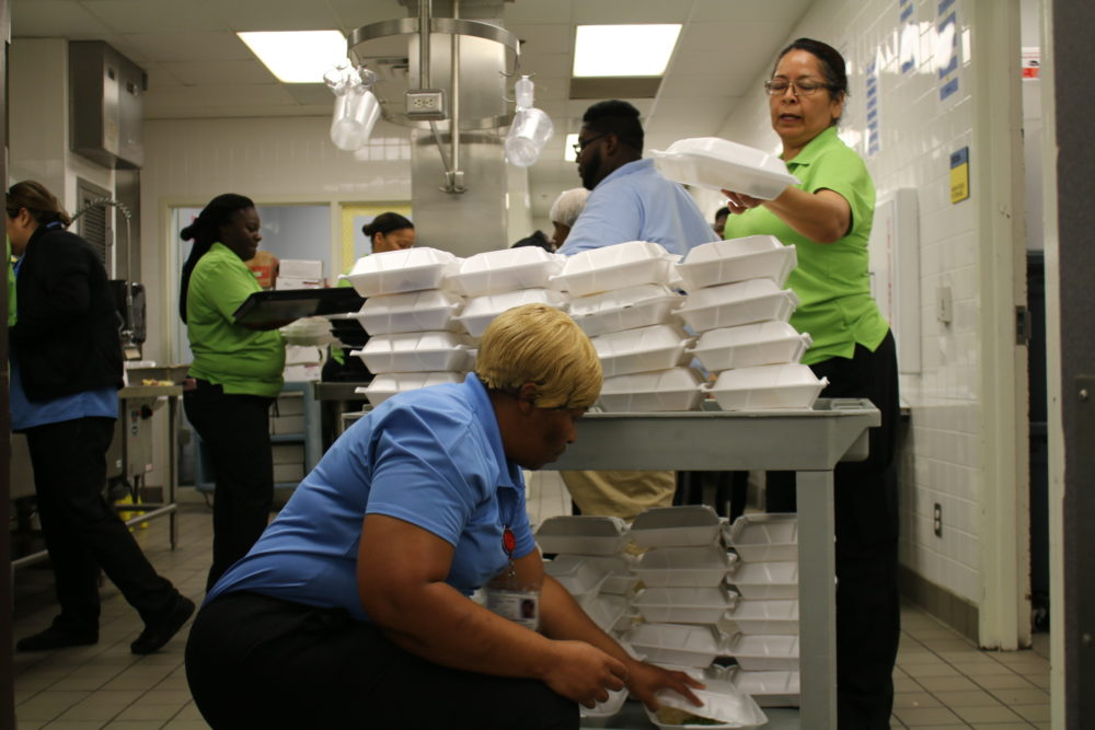 Shadydale Elementary's cafeteria has been serving a couple thousand meals a day since Sunday.