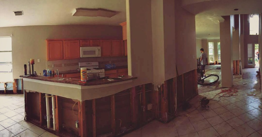 Flooded Home Being Repaired