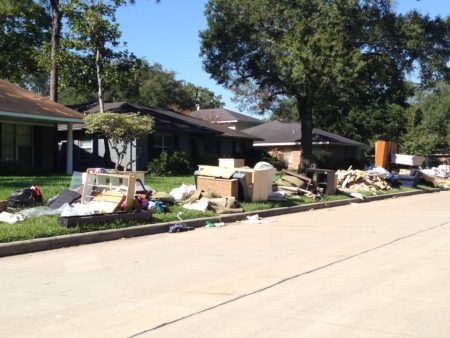 The debris and discarded items and materials that homeowners are placing on the curb are one of the factors City workers who are doing the assessments are paying attention to.
