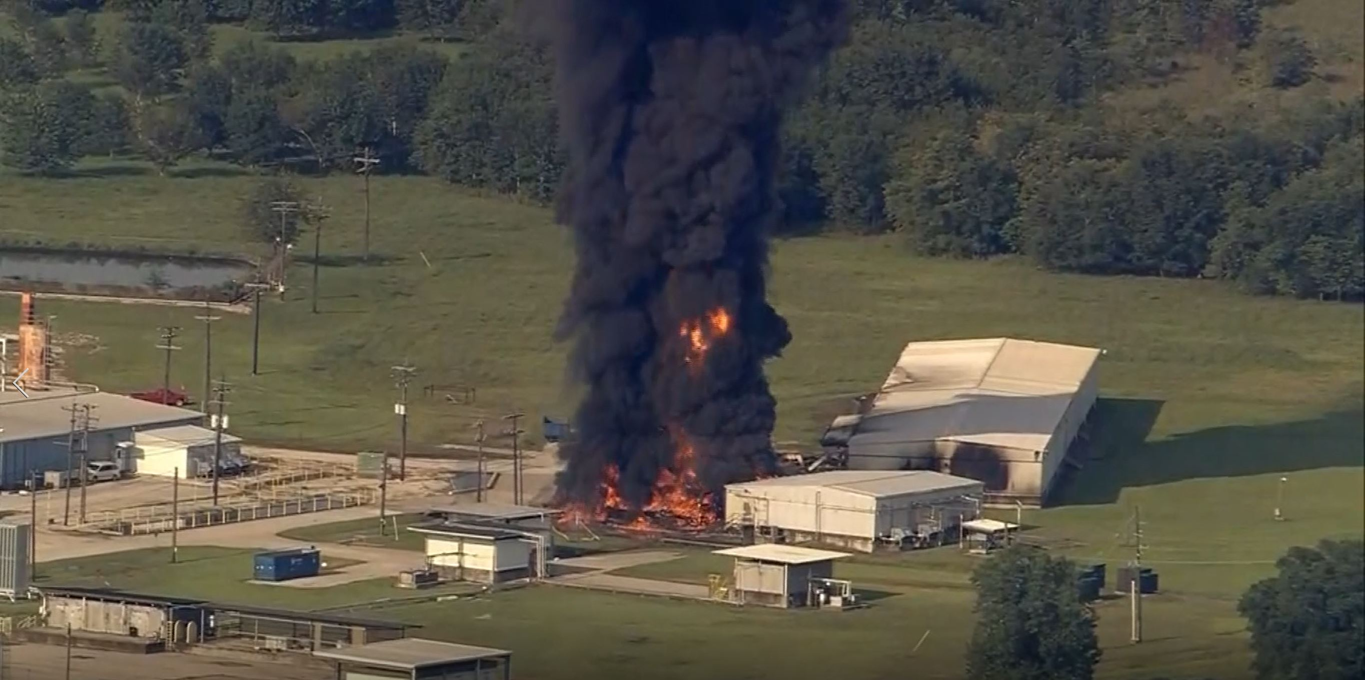 File photo of September 8, 2017 shows a fire at the Arkema chemical company in Crosby, Texas.