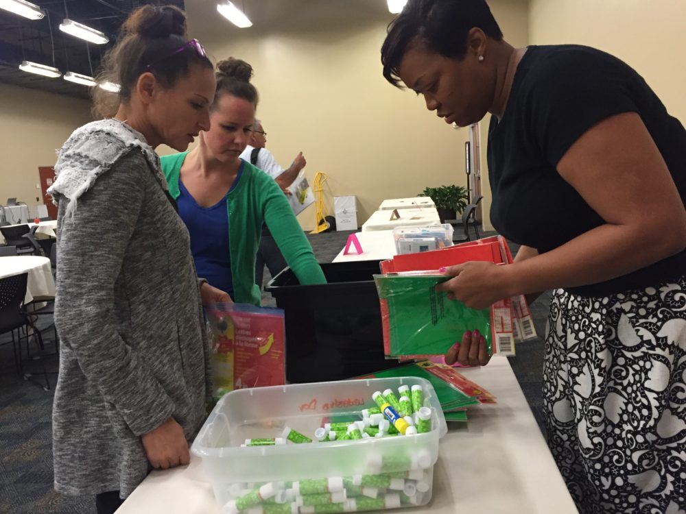 While some Houston teachers wait for their schools to reopen, they have been able to receive professional development and gather classroom supplies this week.